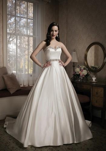 bröllopsklänning Älskling med pärlstav balklänning