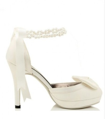 Platform Pumps with Butterfly Knot JM-HX-0045